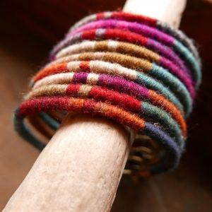 Bracelet joncs de laine - Araignée Gypsie